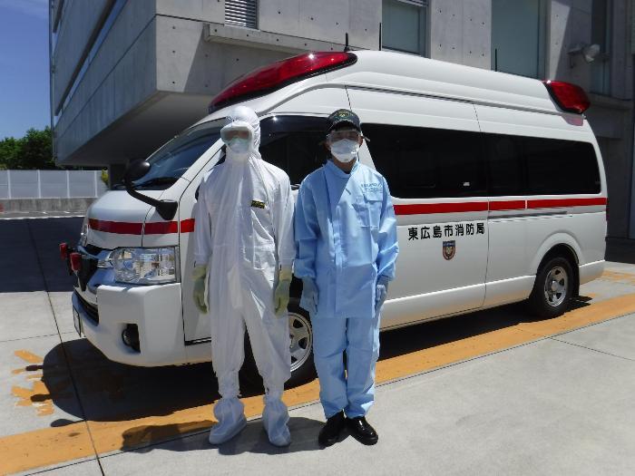 新型コロナウイルス感染症拡大防止に伴う救急隊の服装にご理解ください ...